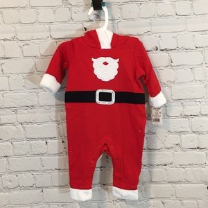 Cat and Jack Baby Santa Baby One Piece Outfit
